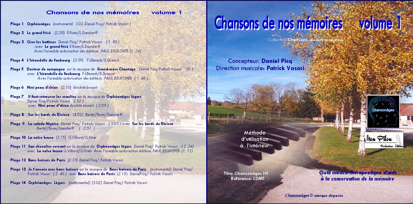 Jaquette cd chansons de nos memoires volume 1