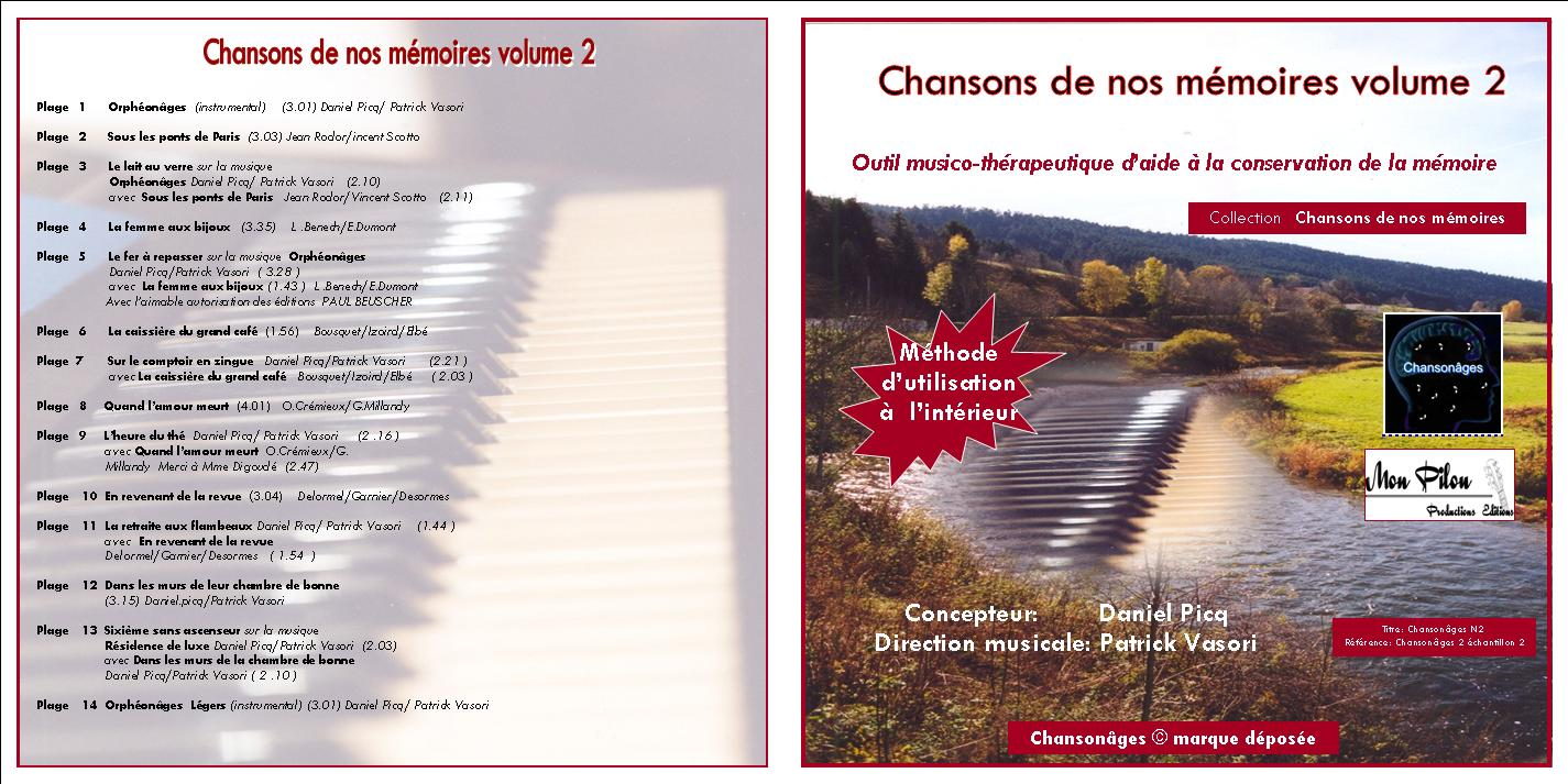 Jaquette cd chansons de nos memoires volume 2