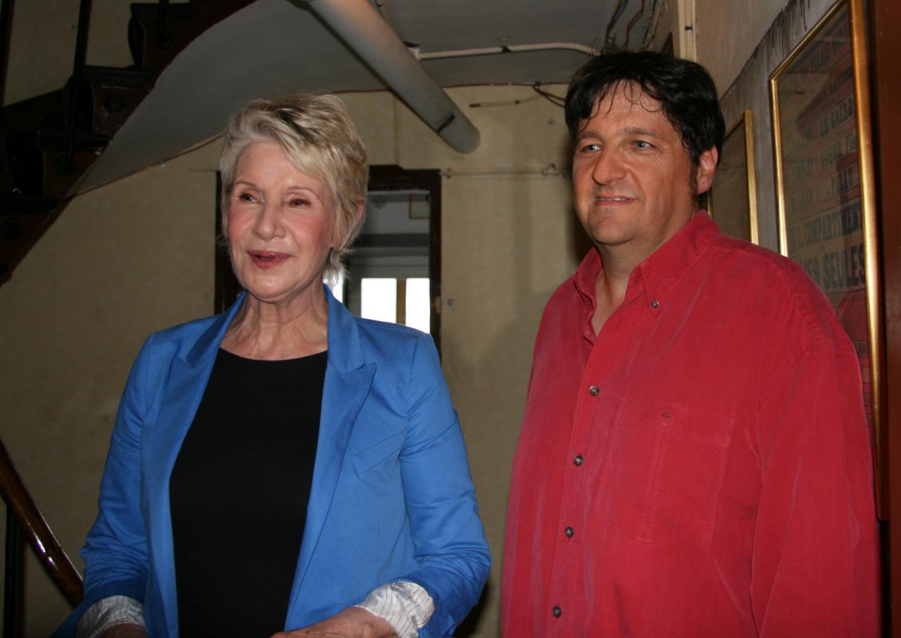 En tournage avec Daniele Gilbert au théâtre du PALAIS ROYAL