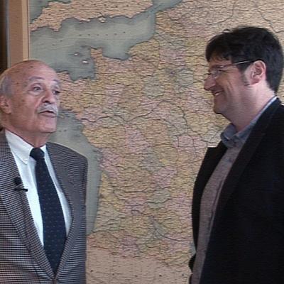 En tournage avec Michel Anfrol à la fondation CHARLES DE GAULLE
