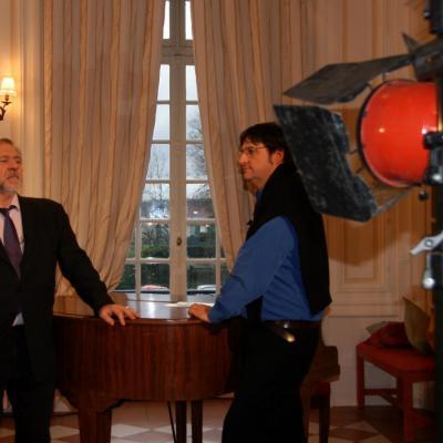 En tournage avec Pierre Santini
